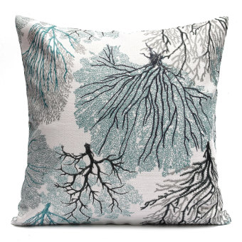 Elegant Vintage Flora l Embroidery Memory Cotton Li nen Jacquard Throw Pillow Cas e Cushion Cover universal Car Home Decor 2#