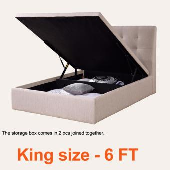 Harga STORAGE BEDFRAME * FABRIC UPHOLSTERY * LIMITED TIME OFFER ONLY