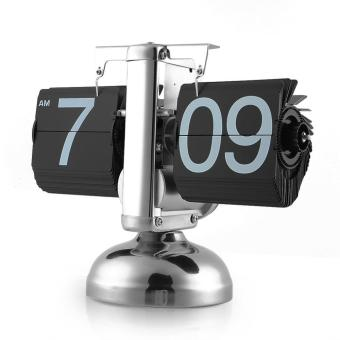 Harga Flip Clock Retro Scale Digital Stand Auto Flip Desk Table Clock Reloj Mesa Despertador Flip Internal Gear Operated Quartz Clock - intl