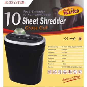 Harga BIOSYSTEM Office Use Shredder 812CD