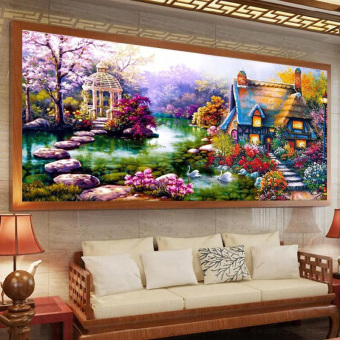 Harga DIY 5D Diamond Painting Cross Stitch Kits Diamonds Embroidery 90cm*50cm