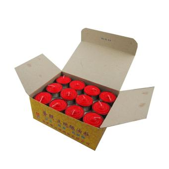 Harga Tealight Shortening Candle in Red (Box)