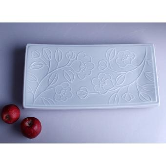 Harga Frontiera Refreshing Flower Rectangular Plate (Green/Sky)