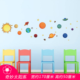 Harga Wonderful solar system starry decorative stickers living room bedroom children's room wall stickers kindergarten classroom wall sticker