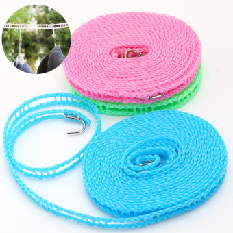 Harga Travel windproof non-slip hanging clothes rope hanging clothes quilt rope to dry rope 5 M outdoor travel portable drying clothes rope