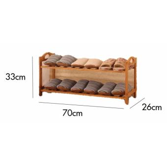 Harga Wooden Shoe Rack -Odaf (2Tier)