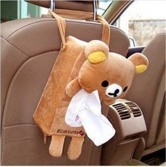 Harga Cute Rilakkuma SanX Cute Plush Car Tissue Box Cover w/Strap