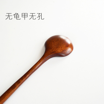 Harga Japanese style long handle wooden spoon sauce spoon stirring spoon cooking spoon wood seasoning spoon colander spoon shells