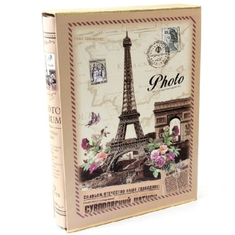 6'' 200 Photos Classic Slip-In Wedding Photo Album Hold Gift Eiffel Tower - intl