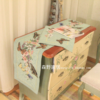 Harga Country dark green new flowers Butterfly pad