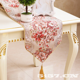 Harga Red gold European luxury embroidered bed flag