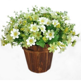 Harga Artificial Silk Flower Daisy Fake Flowers for Party Wedding 1Bunch Green - intl
