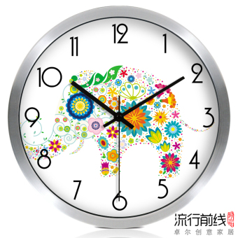 Harga Large super mute cartoon electronic clock modern creative minimalist living room wall clock fashion quartz watches and clocks clock