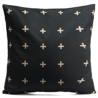 Vintage Black & White Cotton Linen Throw Cushion Cover Pillow Case Home Decor