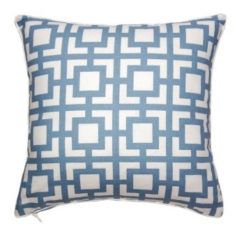 "Harga Gigi Cashmere Blue Cushion Cover 16"" x 16"""