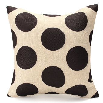 Vintage Geometry Black&White Cotton Throw Cushion Cover Pillow Case Home Decor #03