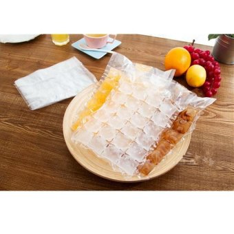 Harga 10 PCS Ice Cube Making Bags Homemade Popsicle Ice Sealed Ice Cube Maker(30*19cm) - Int'L