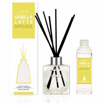 Luxor Aroma Reed Diffuser Vanila Latte 200ml Bottle + 200ml Refill + 5 Reed Sticks Price in Singapore