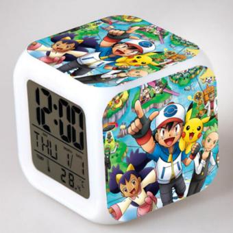 Harga Smart LED Night Glowing Alarm Clock with POKEMON Characters