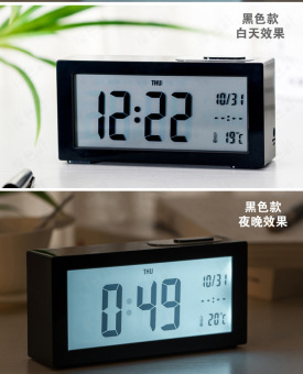 Harga Factory direct creative alarm clock big screen alarm clock luminous led electronic clock alarm clock wise in the store