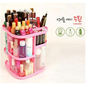 Harga Korean La Vien Tree 360 Degree Rotating Cosmetic Organizer (Pink)
