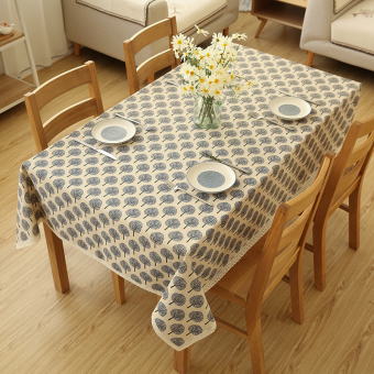 Harga Wishing tree pastoral linen tablecloth fabric table cloth tablecloth coffee table cloth cabinet cover towel round table square table tablecloth