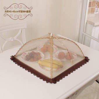 Harga Food cover round anti flies shape rectangular bowl dish cover umbrella cover folding food cover dining table cover leftovers