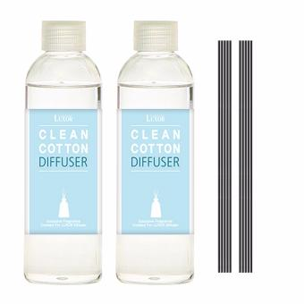 Luxor Aroma Reed Diffuser Clean Cotton 200ml 2 Refill Bottles + 10 Reed Sticks - intl Price in Singapore