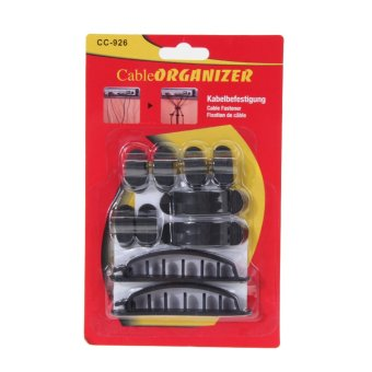 10pcs Cable Cord Wire Line Organizer Plastic Clips Ties Fixer Fastener - intl
