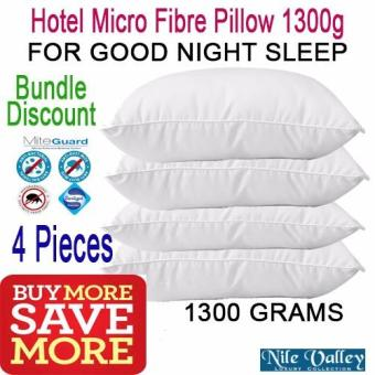 Harga Nile Valley 4 Pieces Hotel Micro Fibre Pillow 1300g. Used in 5 star hotels