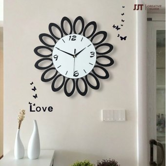 Harga Modern minimalist art of creative large living room wall clock personalized fashion watches and clocks quartz clock mute clock
