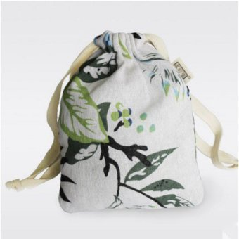 Harga Handmade natural cotton canvas drawstring pouch drawstring bag underwear sorting bags debris bag church
