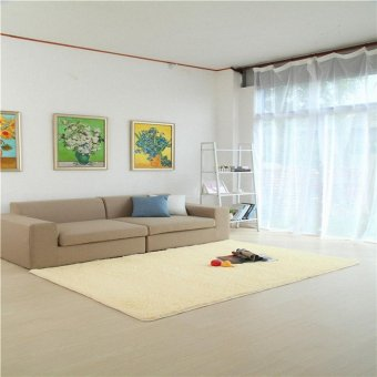 Harga Super Soft Modern Living Room Bedroom Anti-skid Shag Area Rug Carpet 4-Feet By 5-Feet / 120cm 160cm - intl