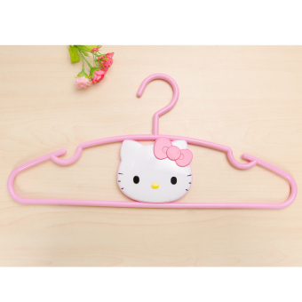 Harga Hello kitty hello kitty kt cat head plastic coat hangers racks hanger pink