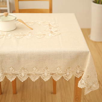 Harga Wishing tree Linen lace pastoral style tablecloth coffee table cloth square tablecloth TV cabinet piano cover towel
