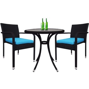 Harga Arena Living Balcony Bistro Set - Blue Cushions