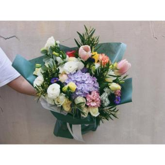 Harga Rainbow Colours Fresh Flower Bouquet - Mini