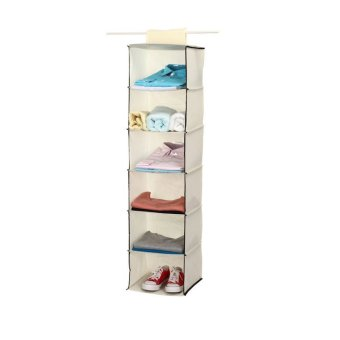 Harga Hanging Closet Organizer Shoe Chothes Storage Organizer Wardrobe 6 Layers