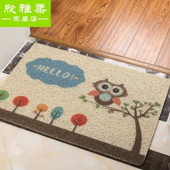 Harga Home cartoon child room pvc door mat kitchen bathroom door mats doormat mat wire ring
