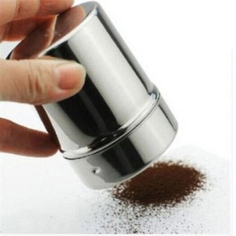 Harga Stainless Steel Chocolate Shaker Cocoa Flour Salt Powder Icingsugar Cappuccino Coffee Sifter Lid Hot Sale Cooking Tools - intl