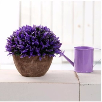 Harga Artificial Grass Flowers Plants In Pot Home House Office Indoor Outdoor Decor - Intl