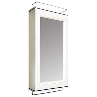 Harga QUEEN STEP Bathroom Cabinet With Mirror - (White)