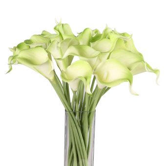Harga Calla Lily Bridal Wedding Bouquet 1 Head Latex Real Touch Flower Bouquets (Intl)