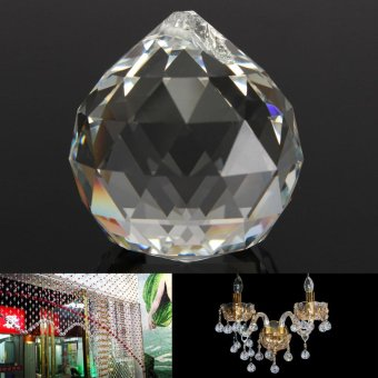 50mm Clear Crystal Glass Ball Lamp Prisms Part Decoration Pendant Bead FENG SHUI - intl