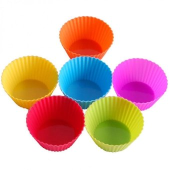 Harga 24 pcs Reusable Silicone Baking Cups