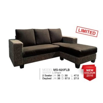 Harga Alice Designer Fabric Sofa Model 620 (Dark Brown)