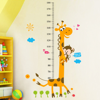 Harga Children's cartoon baby measuring height wall stickers foot height stickers children's room bedroom wall paper removable