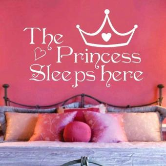 Harga The Princess Sleeps Here Wall Sticker PVC Decals - intl
