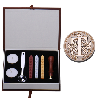 Harga NEW T Letter Vintage Alphabet Wax Badge Seal Stamp w/Wax Kit Set Letter A-Z