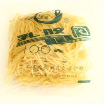 Harga Shanghai general chang jian jian quality band milky latex rubber band ring 100G changjian's rubber band